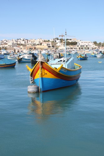 Villade de pécheurs à Malte