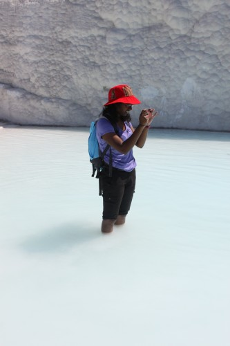 Bain de pieds à Pamukkale