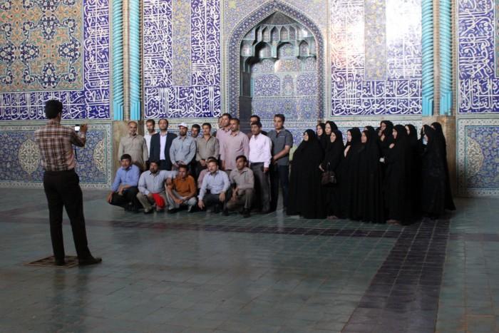 Photo de groupe version iranienne à Isfahan