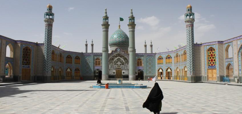 L'entrée du mausolée de Shahzadeh-ye Ibrahim