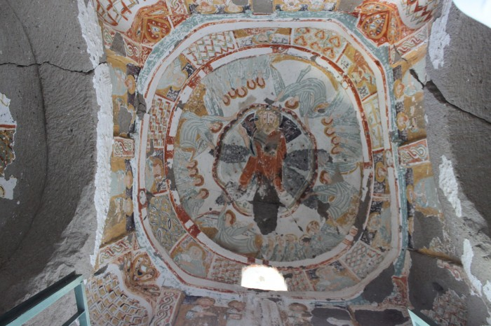 Plafond chapelle dans la Plafond d'une église dans la vallée d'Ihlara