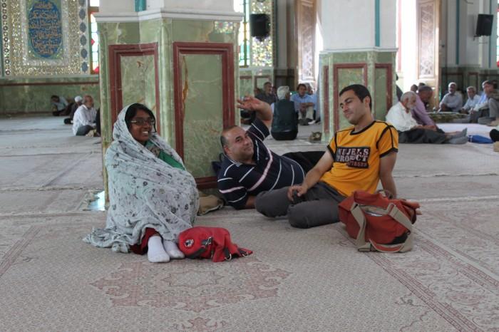 A l'intérieur du Shahzadeh-ye Ibrahim