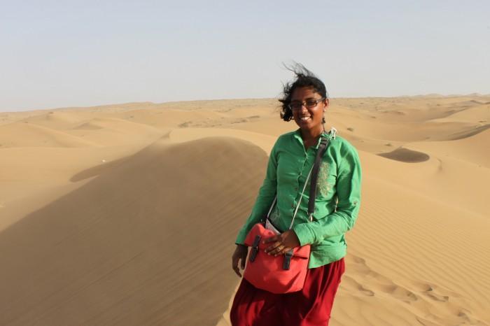 Sophie dans le Dasht-e Kavir