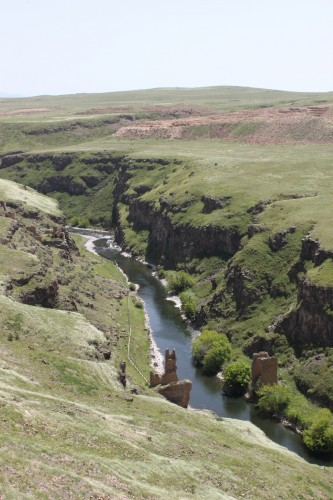 Pont entre la Turquie et l'Arménie à Ani