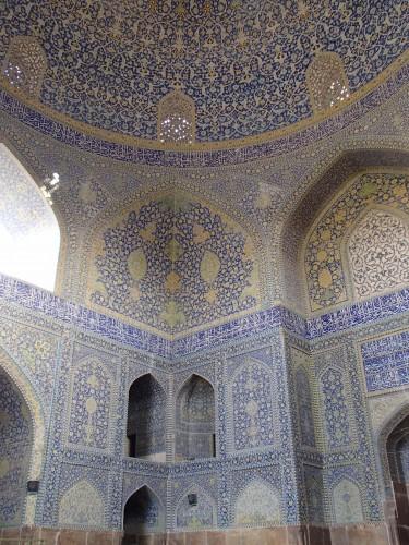 Intérieur de la mosquée Masjed-e chah à Ispahan