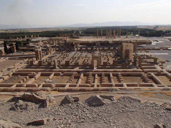 Vue du site de Persepolis