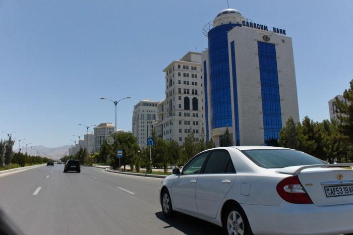 Dans les rues d'Ashgabat
