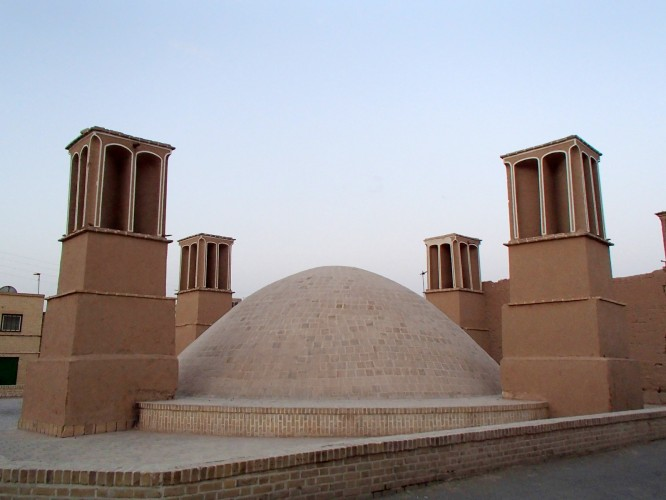 Pièges à vent à Yazd