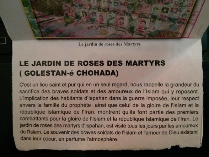 Présentation du jardin des martyrs