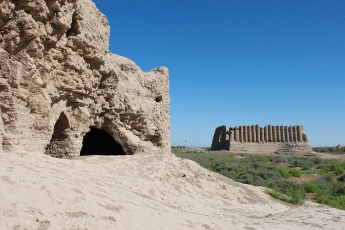 Les ruines de Merv, ancienne ville de la route de la soie