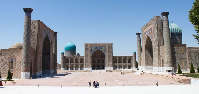 Le Registan, Samarcande
