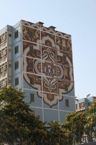 Décoration d'immeuble à Tashkent