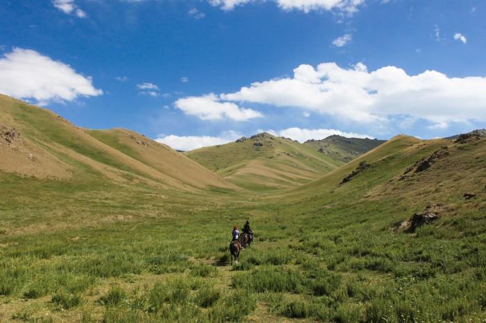 Randonnée à cheval au Kirgizstan