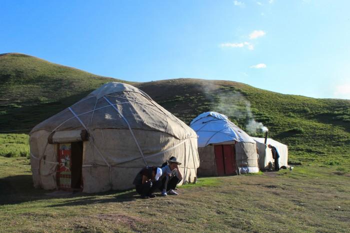 Yourtes kirghizes
