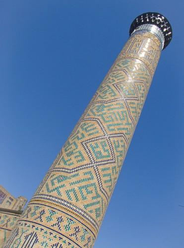 Minaret de la mosquée Bibi-Khanym