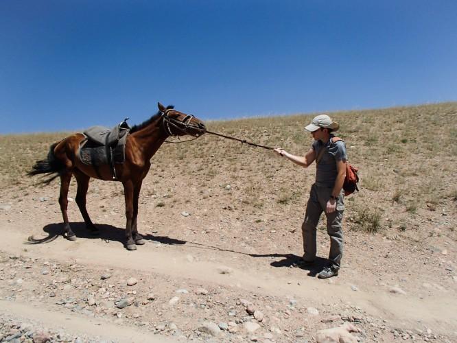 Romain et son cheval recalcitrant