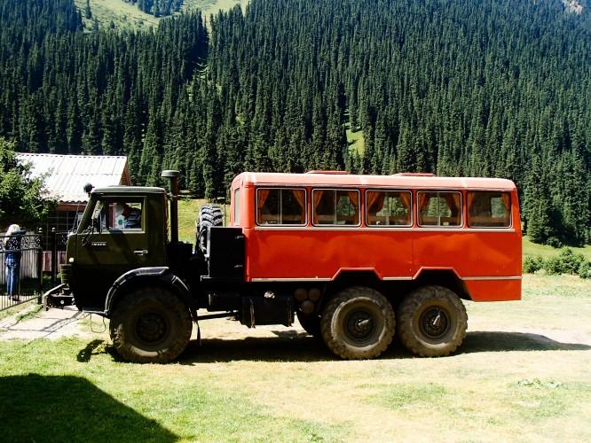 Les transports à Altyn Arashan