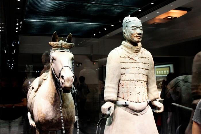Un cavalier de l'armée de terre cuite à Xi'an