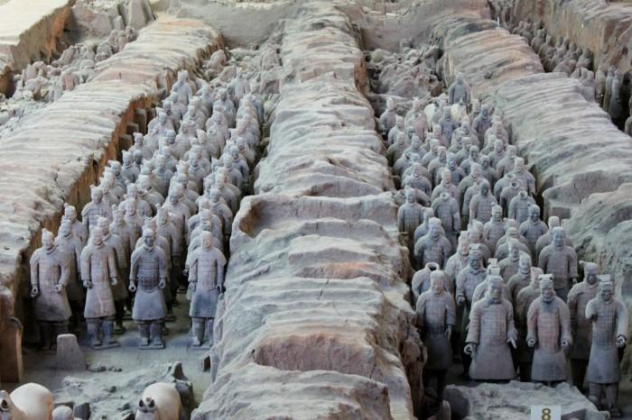 fantassin armée de terre cuite de xi'an