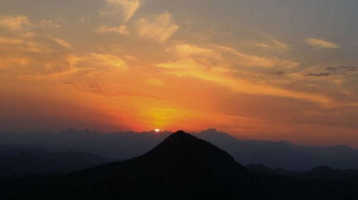 Coucher de soleil sur Simatai