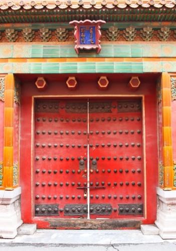 Porte dans la Cité Interdite des empereurs de Chine