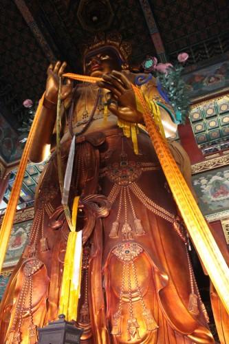 statue de Bouddha dans le temple des Lamas