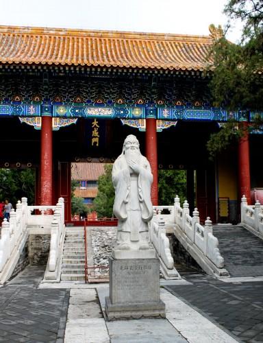 Statue de Confucius à l'entrée du temple, Beijing