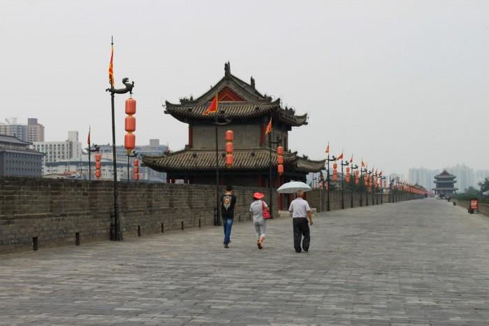 Sur la muraille de Xi'an