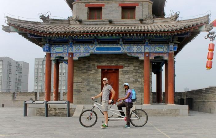 Tandem sur la muraille de Xi'an