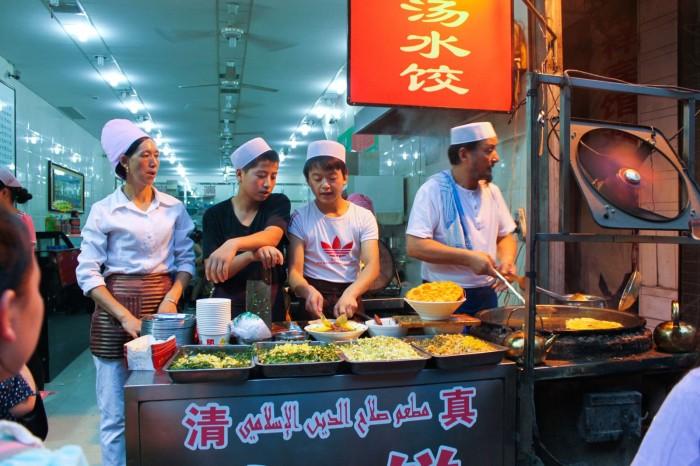 Vendeurs dans le quartier musulman de Xi'an