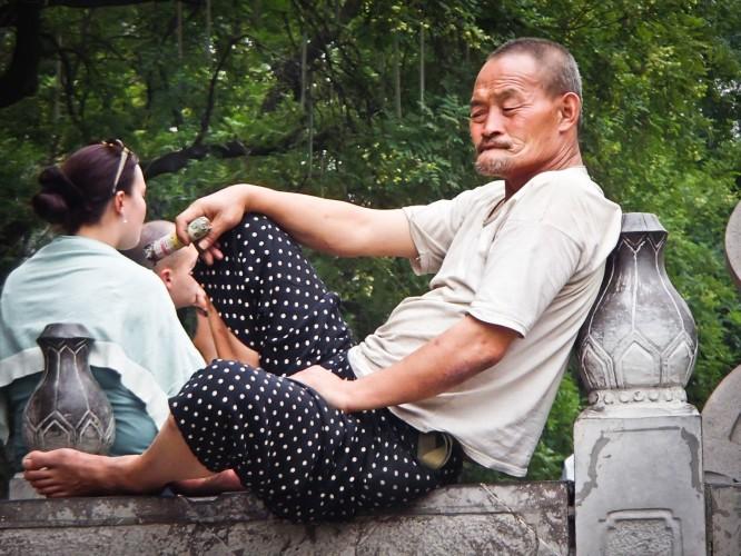 vieil homme à Xi'an