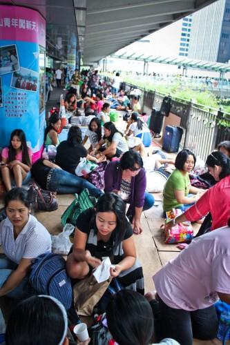 L'énorme pique nique des femmes de ménage de Hong Kong