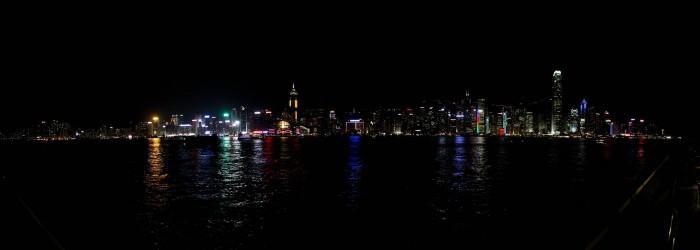 Skyline de Hong Kong de nuit