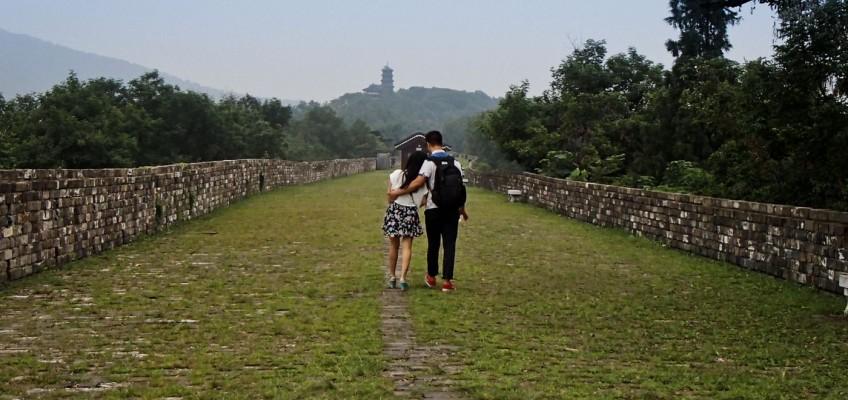 Amoureux sur la muraille