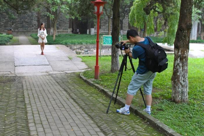 Une jolie fille à Nanjing