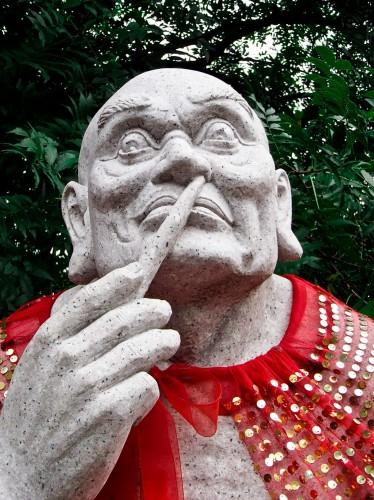 Statue de sage bouddhiste à Nanjing