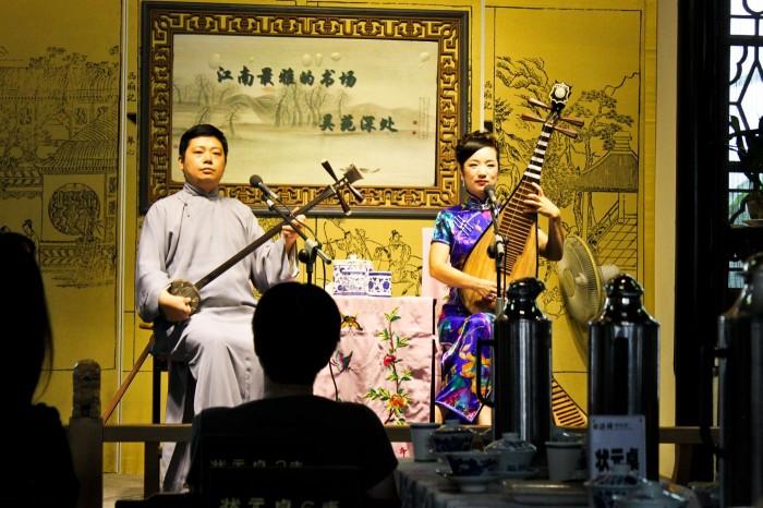 Spectacle de pingtan à Suzhou