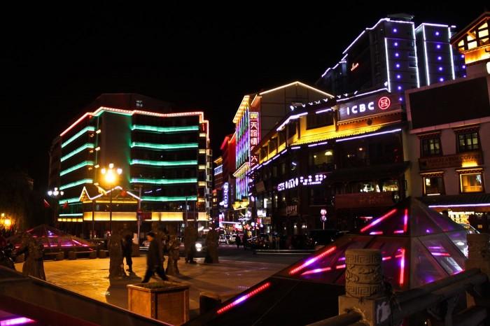 Kangding la nuit, Sichuan