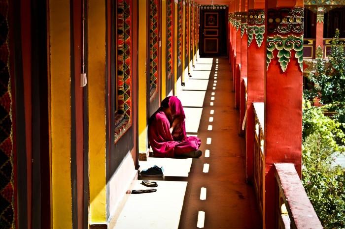 Jeune lama du monastère Nanwu