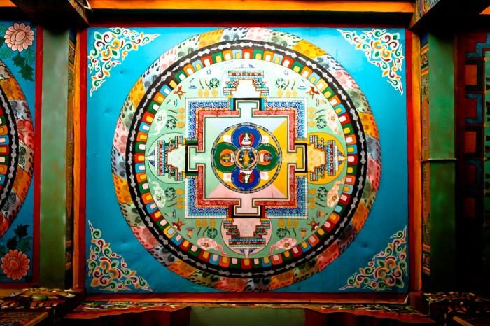 Mandala au plafond du temple Nanwu