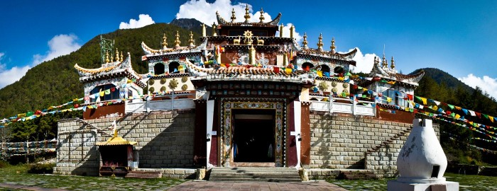 Temple de Paoma à Kangding