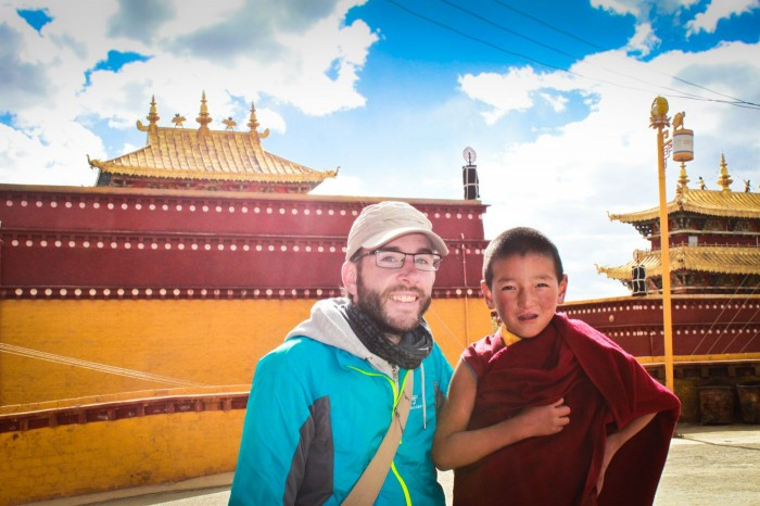 Très jeune moine au Gompa Chode