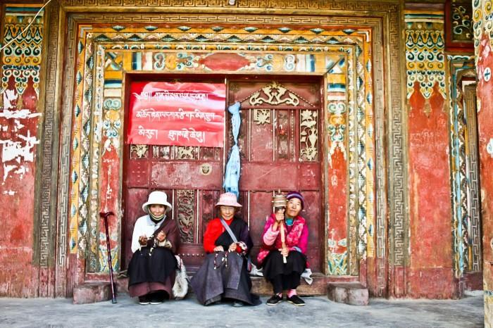 A l'entrée du Báitǎ Gōngyuán