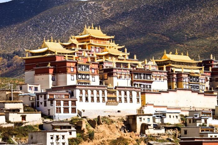 Le monastère Gompa Ganden Sumtseling, Shangri-La