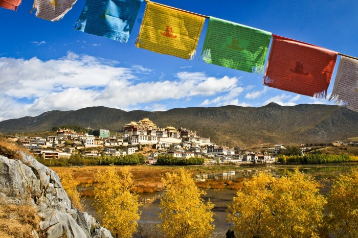 Le monastère Gompa Ganden Sumtseling, Shnagri-La