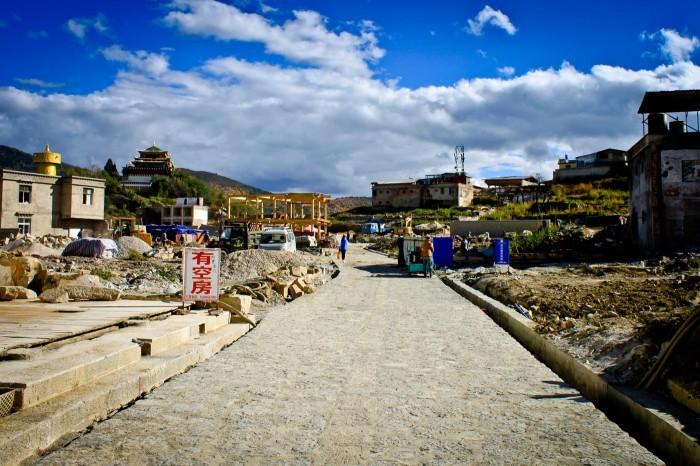 La vieille ville de shangri-La suite à un incendie