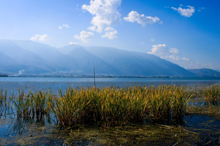Lac Erhai près de Dali au Yunnan