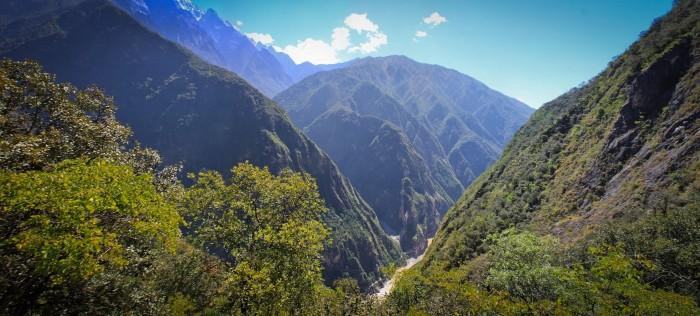Les Gorges du Saut de Tigre, vue sur la vallée