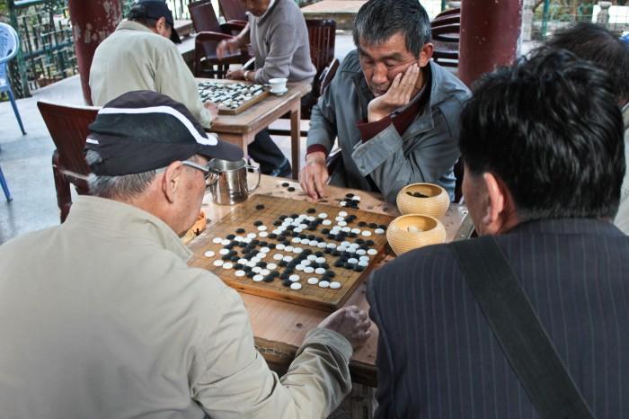 Joueurs de go à Kunming
