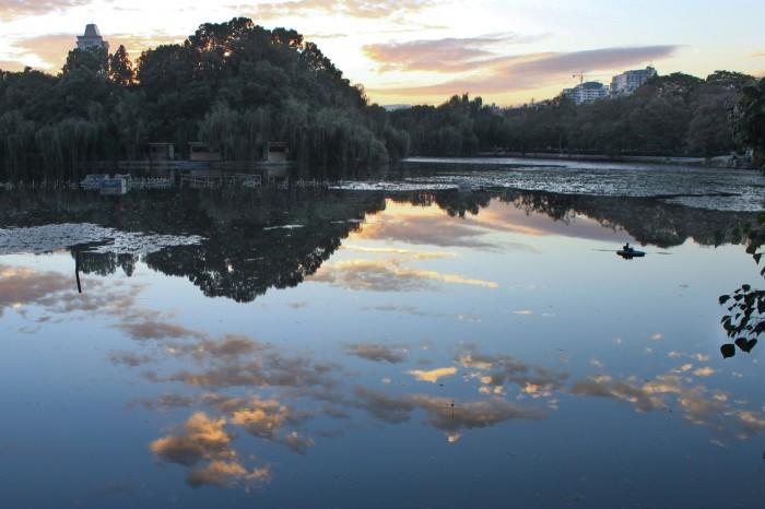 Soir sur le lac de Kunming